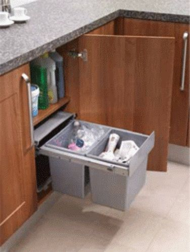 Pull Out Waste Bin Base Mounted 30 Litre Capacity For